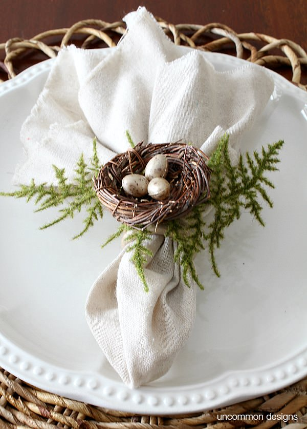 spring-birds-nest-napkin-rings-uncommon-designs